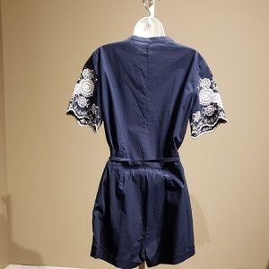 English Factory Pants - NWT! English Factory Embroidered Romper Navy